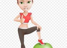 Spa Services and Personal Trainer  مدربة رياضية شخصية وخدمات العناية بالجسم  (Female)