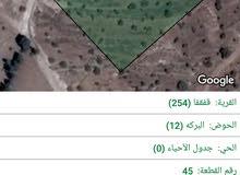 ارض للبيع في جرش قفقفا