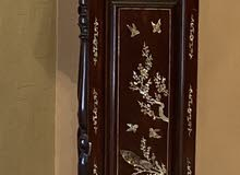 mother of pearl imbedded grandfather clock