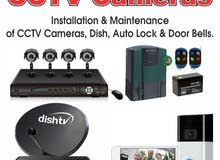 sale & fixing all kinds of cctv camera video door phone
