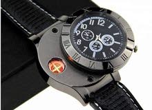 Lighter Watch Men's Casual Quartz Wristwatches with Windproof Flameless Cigarette Cigar Lighter,