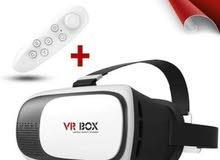 نطارة الواقع الافتراضي ثلاثية الأبعاد vr box بالريموت