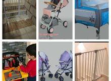 باب حماية للاطفال..تخت بيبي ..عرباي انيقة وعملية للاطفال