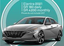 Hyundai Elantra 2021 for rent (Zero Mileage)