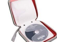حقيبة محمولة لتخزين وتنظيم الأقراص المضغوطة وأقراص دي في دي بشكل البوم سعتها 40