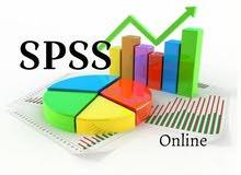 خدمات التحليل الإحصائئ على برنامج SPSS وE-views و Atlas