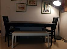 IKEA INGATORP Dinning Table and Chairs  طاولة سفرة اكيا