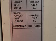 عدد 2 مكيفات سبليت، كوري تجميع كوري، بحالة ممتازة مع ريموت، 18000 وحدة حار بارد
