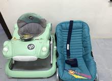 مشاية عربة ومقعد طفل رضيع
