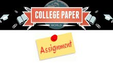 Assignments, Papers, Presentations for all Levels.