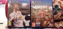 للبيع الزوز ب 75 دينار   Fifa 18 (40) Far cry (40)