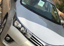 سياره كورولا 2015 مرخص ومجمرك الترخيص جديد وارد السعوديه