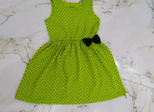 فستان بناتي قطن