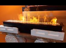 مدفأة ديكور بخار . بديل الغاز صحية
