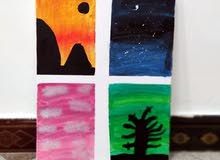 لوحات فنيه رسم يدوي
