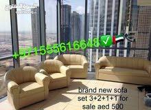 7 مقاعد أريكة 3 + 2 + 1 + 1 السعر فقط 500 لون لدي الكثير مثل اللون الأسود