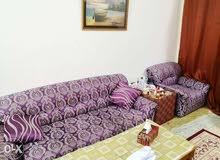 Sofa, chair & tables اريكة و كرسي و 3 طاولات صغيرة متنوعة