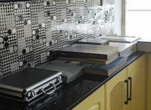 للبيع مطبخ خشب مع رخام طبيعي تركي