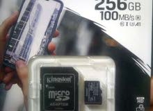 كارت ميموري كينجستون 256 kingstoon memory card plus