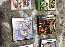 مجموعة ألعاب DS (دي إس) مع لعبتين GameBoy Advance (قيم بوي أدفانس مجانيتين)