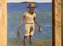 لوحة صائد السمك للبيع