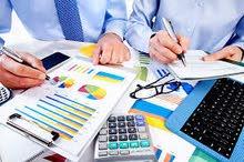 محاسبة بدوام جزئي + تقديم اقرارات ضريبية + برنامج محاسبي مجاني
