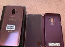 Samsung galaxy s9+ plus كالجديد بجميع مشتملاته ليس به اى خدوش نهائيا  المساحه 12