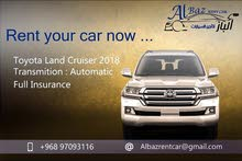 For a Day rental period, reserve a Toyota Land Cruiser 2019