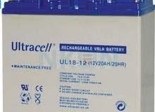 بطاريات 20 امبير  12 فولت للبيع بحالة ممتازة قابل للبدل
