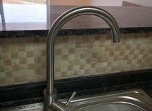 Stainless steel kitchen tap