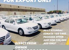 FOR EXPORT ONLY 2017 HYUNDAI SONATAS TOTAL 105 CARS