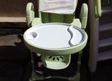 كرسي  وزحليكه وموجوحه اطفال