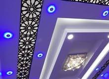 ديكورات جبس بورد اسقف وفواصل ورفوف للمحلات التجارية والمنازل