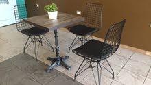 بضاعة جديدة من طاولات و كراسي المقاهي و المطاعم و الاستراحات ذو جودة عالية
