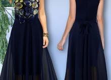 فستان شيفون مبطن صدر شك