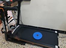 جهاز رياضي بي 5 اشباء اثقال-القرص الدوار-حزام هزاز-و تشغيل اغاني MP3.مستعمل بس ا