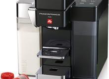 مكينة قهوة illy y5 milk  ايطالية جديدة مستخدمة شهر واحد فقط