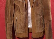 genuine chamois leather jacket  جاكيت جلد شاموا طبيعي