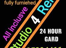 studio 4 rent in adliya fully furnished inclusve ewa and internet