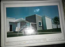 منزل للبيع علي قطعة ارض 1000متر مسيج بالكامل والكهرباء واصلة وبه فسكية ومساحة ال
