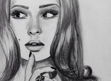 رسامة رسم بالبيت صور شخصية