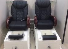 كرسي منيكور وبديكور مع مساج للبيع