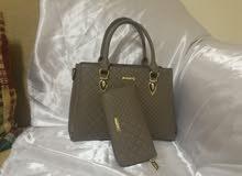 طقم حقيبة نسائية مع محفظة