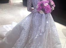 للبيع فستان زفاف و الله رووعه الفستان نار ملبوس مرة وحده بس