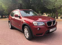 Maroon BMW X3 2013 for sale