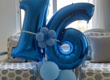 """""""16"""" Blue Balloons in a very new condition"""