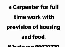 Urgently required :  a Carpenter