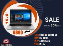 HP PROBOOK 650 G2 برسيسور :CORE I5 جيل سادس شاشه : 15.6 بوصه