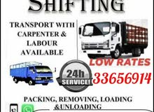 house shifting low price only labour charges furniture open and fixing with carp