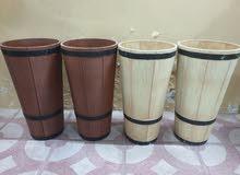 Round decorative planter flower pot - 4Pcs